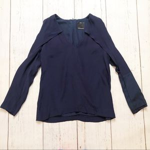 🏷C/Meo Collective navy blue cold shoulder blouse